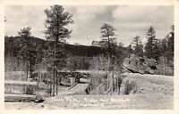 South Dakota SD Postcard 1948 Near RUSHMORE Rapid City DOUBLE PIGTAIL Road RPPC