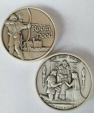 Robin Hood 2 oz .999 Silver Coin Antiqued prince of thieves Nottingham Camelot