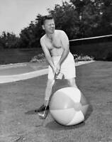American Actor And Comedian Mickey Rooney Playing Golf With A Circa OLD PHOTO