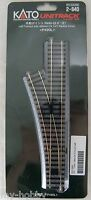 "HO Scale Code 83 Left Turnout with 490mm (19-1/4"") Radius Curve - Kato #2-840"