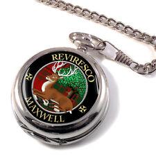Maxwell Scottish Clan Pocket Watch