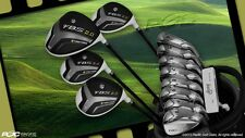 "NEW +1"" BIG TALL COMPLETE FBS 2.0 GOLF CLUB IRONS DRIVER WOODS 4-SW IRON SET BAG"