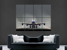 BOEING 747 JUMBO TAKEOFF  AEROPLANE  GIANT WALL POSTER ART PICTURE PRINT LARGE