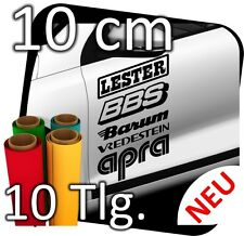 10 x Sponsoraufkleber, Decals, Aufkleber, Rally, Sponsorenaufkleber,Sticker 10cm