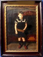 """Harald Moltke """"Sailor Boy"""" 1896 Antique Vintage Oil Painting Canvas Portrait"""
