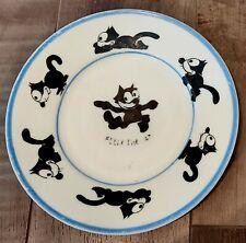 "Antique 1925 Rudolstadt Germany 7 1/4"" Felix The Cat Baby Child's Plate Rare"