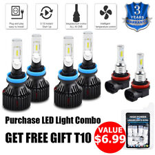 For Chevrolet Malibu 2006-2012 6x Combo H9 H11 H8 LED Headlight Fog Light Bulbs