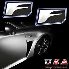 2x 3D F Sport Metal Logo Emblem Side Fender For Lexus IS-F GS-F RC-F IS250 GS350