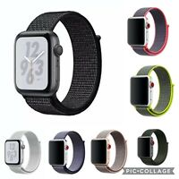 Woven Nylon Sport Loop Band Strap Bracelet For iWatch Apple Watch Series 6/5/4/3