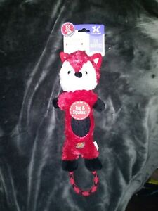 *NEW* Charming Pet 16' Lil Roperz Red Fox🦊 Crinkle/Rope/Squeak/Tug Toy For Dogs
