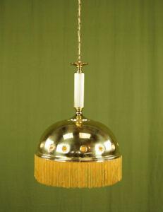70er Vintage Ceiling Light Hollywood Regency Brass Lamp 60er