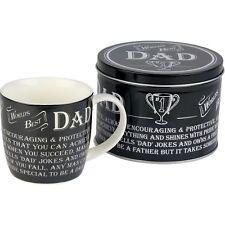 World's Best Dad Mug and Tin Birthday, Christmas, Father's Day Gift Idea ARO8811