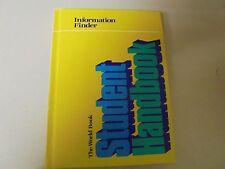 """The World Book Student Handbook """"Information Finder"""""""