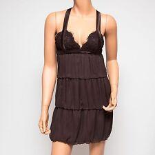 NWT Ingwa Melero Mahogany Brown Virgo Dress 22 VD XS $310