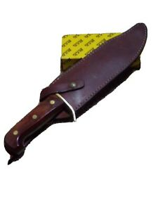 Vintage Western Cutlery Bowie knife With Dangle leather Sheath