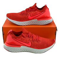 Nike Epic React Flyknit 2 Chile Red Men's Sneakers Shoes White Grey BQ8928 601