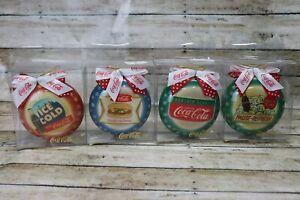 Vintage Coca Cola Christmas Ornaments Set of 4