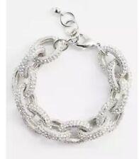 Nordstrom Women's Silver Pavé Link Bracelet 0753