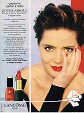 PUBLICITE ADVERTISING 045  1993   LANCOME  cosmétiques vernis et rouge à lévres