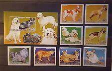 Briefmarken Hunde Guinea Bl.B+satz B,postfrisch