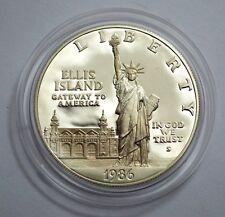1986 S ELLIS ISLAND  Proof Commem 90% Silver Dollar Coin