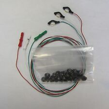 "Pkg of 15 Disposable/Reusable Dry Electrodes, 10 EEG Cup Electrodes,3x 48"" wires"