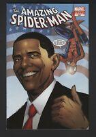 THE AMAZING SPIDER-MAN #583-BARACK OBAMA MARVEL 3rd Print Variant 9.6 NM