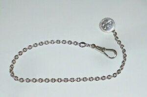 Alte silberne Taschenuhrkette Uhrenkette Uhrkette Kette Taschenuhr Silber 007