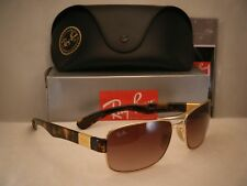 Ray Ban 3522 Gold w Brown Gradient Lens NEW sunglasses (RB3522 001/13 61mm size)