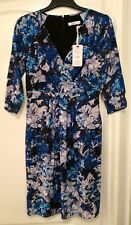 Kaliko Size 8 Dress Blue/Lilac Floral,  Occasion Mother of the Bride NEW £129.00