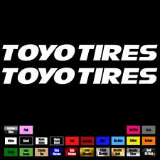 "2X TOYO TIRES Wheels Bumper Truck Drift JDM Caps Car Window Decal Sticker 9"" 037"