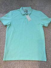 Mango Mint Green Marl Polo Shirt Size Medium RRP £29.99