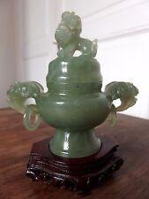 Mini vase chinois en jade - Potiche en jadéite - Old chinese jade vase -
