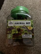 Washable & Stain Resistant Bee Happy Plastic Dinosaur Animal 25pc Set (Ages 3+)