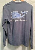 Vineyard Vines Womens Long Sleeve T Shirt XS Blue Whale