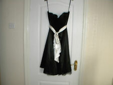 LADIES DEFINITIONS BLACK POLYESTER STRAPLESS DRESS