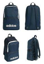 Adidas Mochila Escolar Mochilas lineal Gimnasia Entreno Deportes Viaje Bolso Azul Marino