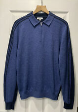 REISS 'Silverthorn' Navy Long Sleeve Zip Neck Polo Shirt Top Size XS