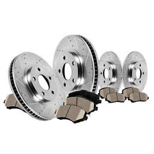 4Front Drill&Slot Rear Rotors 8xCeramic Pads For Chrysler Town & Country 12 13