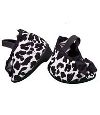 """Leopard print shoes with heels / Teddy Shoes fits 15"""" Build a Bear"""