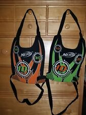 Lot of 2 - NERF Dart Tag Chest Shield Vest Target Orange and Green