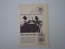 advertising Pubblicità 1956 SIGARETTE CIGARETTES LUCKY STRIKE