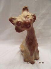"FENTON ART GLASS 2005 11"" CHOCOLATE ALLEY CAT FIGURINE  UNDECORATED"