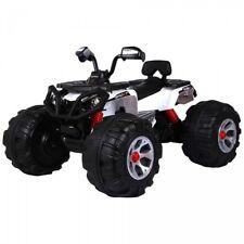 Quad Elettrico Moto Monster ATV Bianco 12V 1 Posto Per Bambini