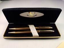 Centennial 0.5MM Mechanical Pencil and Erasers & Ball Point Pen Set w/Case Gold
