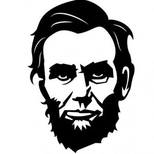 american-president-portrait-abraham-lincoln VINYL Decals BUY 2 GET 1 FREE
