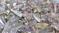 Kunzit Spitzen - Anhänger handgefertigt - mit Silber -- Kristall aus Afghanistan