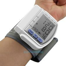 LCD Digital Wrist Blood Pressure Monitor Heart Beat Rate Pulse Meter Measure