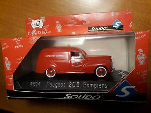 ►Miniature Sapeurs Pompiers SOLIDO 1/43 4814 Peugeot 203