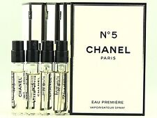 CHANEL NO 5 EAU PREMIERE EDP 2.0ml .06fl oz x 4 PERFUME SPRAY SAMPLE VIAL MINIS